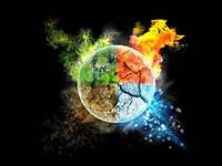 Энергетическая чистка человека 4 стихиями.